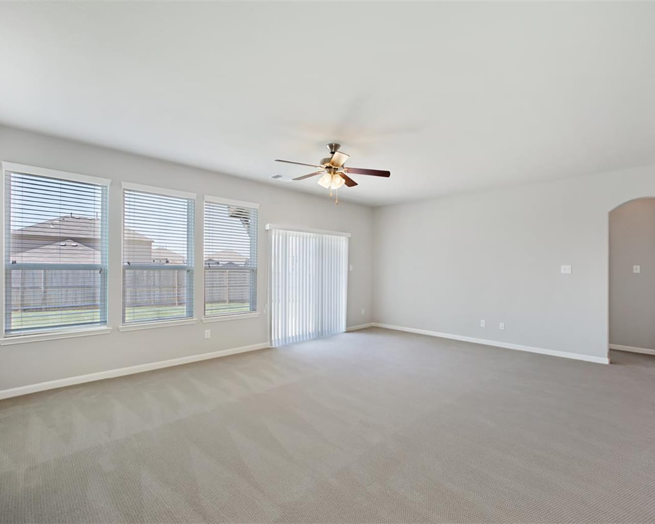 Empty room for virtual home staging